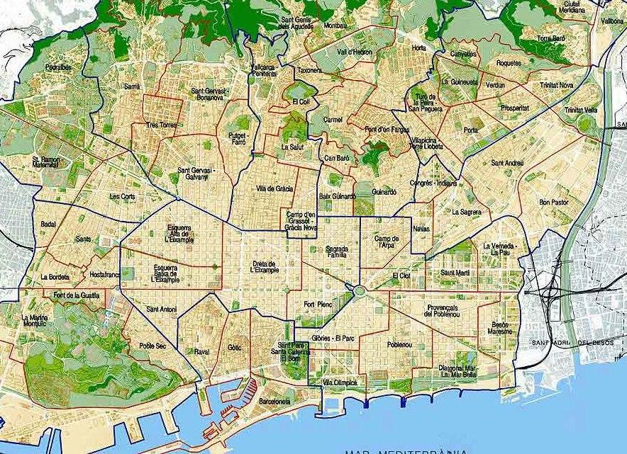 Карта Барселоны На Русском Скачать - фото 3